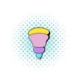 LED bulb icon comics style vector image