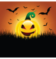 Halloween pumpkin background vector image vector image