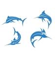 Big blue marlins vector image