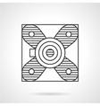 Block bearing flat line icon vector image