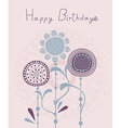 Floral Birthday Background vector image