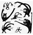 Monsters cartoons set vector image