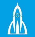 rocket icon white vector image