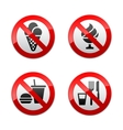 set prohibited signs - foods vector image