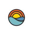 sun water logo vector image