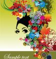 Woman face with flower vector image