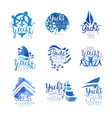 yacht club sailing sports or marine travel vector image