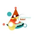 Abstract geometric Christmas banner vector image vector image