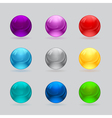 shiny balls different colors vector image