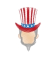 hand drawing uncle sam design vector image