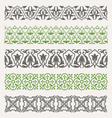 Decorative seamless ornamental borders set vector image vector image