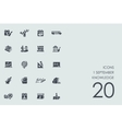 Set of 1 september knowledge icons vector image