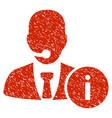 help desk grunge icon vector image