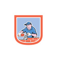 Bricklayer Mason Plasterer Worker Cartoon vector image vector image