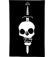 Skull Impaled on a Sword Dark vector image vector image