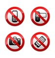set prohibited signs - gadget vector image