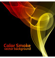Abstract fire colored smoke vector image