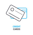credit cards concept outline icon linear sign vector image