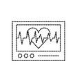 ecg machine displaying heartbeat monitoring vector image