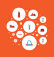flat icons architecture moscow coliseum and vector image