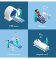 Medical Equipment Isometric 4 Icons Square vector image