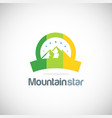 mountain star emblem logo vector image