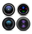 realistic detailed 3d camera lens set vector image