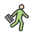 Running with Briefcase vector image