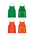 Set of aprons isolated Uniform part for several vector image
