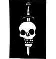 Skull Impaled on a Sword Dark vector image