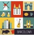 Symbols of Barcelona vector image