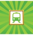 Train picture icon vector image