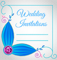 Wedding card or invitation with jewelry vector image
