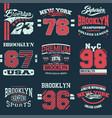 set of 9 brooklyn vector image