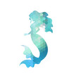 Silhouette of mermaid silhouette of mermaid vector image