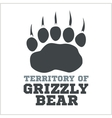 footprint grizzly bear - vector image