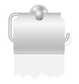 toilet paper on holder 04 vector image