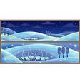 winter landscapes vector image vector image
