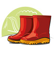 children rubber boots vector image vector image