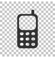 Cell Phone sign Dark gray icon on transparent vector image