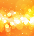 Abstract Bokeh Lights on Orange Background vector image