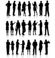 business people vector image