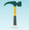 Claw hammer Repair equipment Rubber handle vector image