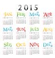 happy new year calendar 2015 vector image
