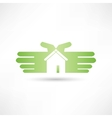 house hand icon vector image
