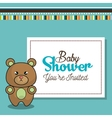 invitation baby shower card with bear desing vector image
