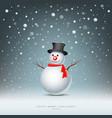 Merry Christmas Snowman vector image