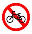 No bicycle vector image