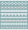 Set of cute straight lace in pastel colors vector image