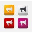 square button megaphone vector image